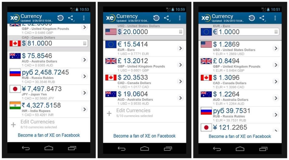 XE-Currency app